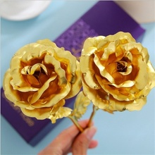 Gift box packaging. Decorative Rose Flowers  24k plated Rose craft best gifts day Rose golden lover valentines Gifts