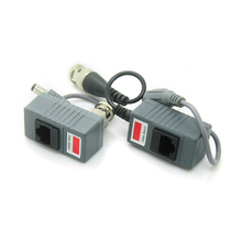RJ45 Transceiver UTP Balun BNC Video DC Power Twisted Pair CAT5 For CCTV(Hong Kong,China)