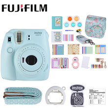 New 5 Colors Fujifilm Instax Mini 9 Instant Camera Photo Camera+14 in 1 Kit Video Bag Case Protector Filter+Album+Sticker+Other(China)