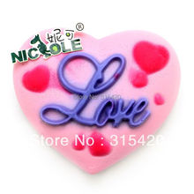 Nicole R0277 Handmade Heart Shape Silicone Natural Soap Molds, DIY Love Mold for Valentine's Day