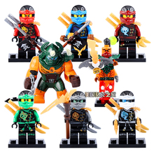 NINJAGO Figure Cole Kai Jay Lloyd Nya Black Dogshank Nadakhan Ninja Building Bricks Toys Compatible Lego Block - Awesome Toy Store store