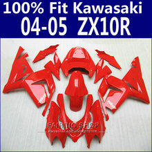 All red painted kits For Kawasaki Ninja Fairings Zx10r 2004 2005 04 05 Fairing kit 100%Fitment x69