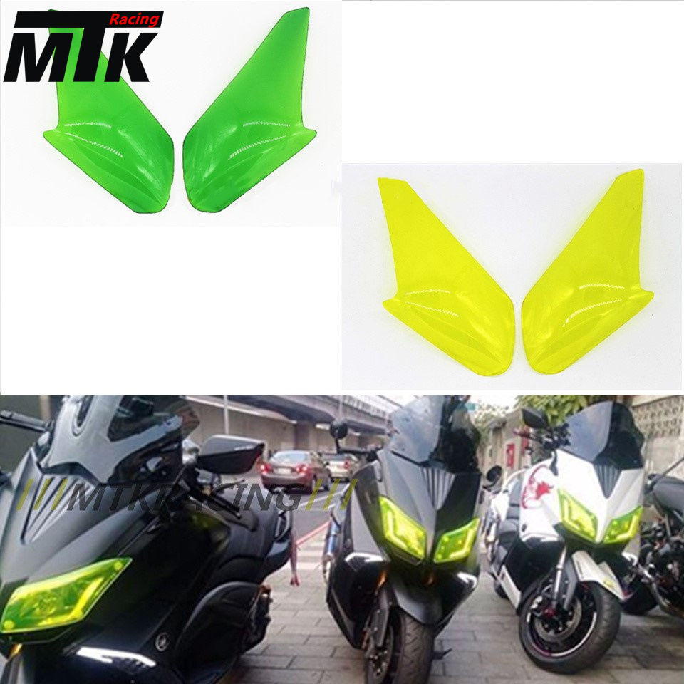 MTKRACING New For Yamaha TMAX 530 2012 2013 2014 2015 2016 Motorcycle ABS Headlight Screen Protective Cover T-max T MAX<br>