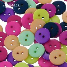 2017 New 200PCS 2 Holes Mixed Round Resin Buttons Sewing And Scrapbooking 12.5mm Sewing Accessories
