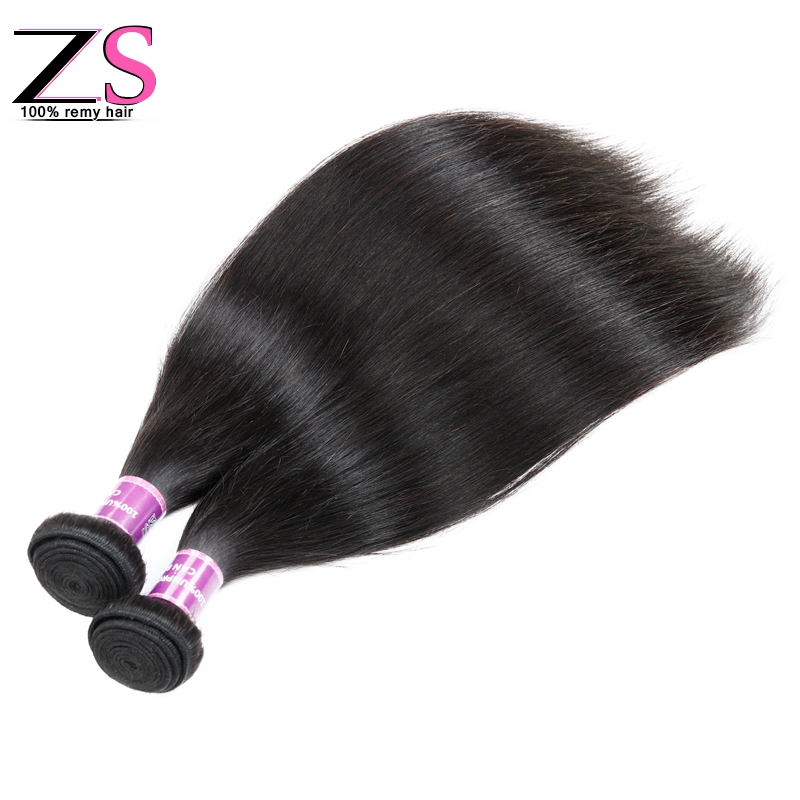HOT ZSF Hair Products Brazilian Straight Virgin Hair 3PCS Natural Black Color Smooth brazilian straight hair one bundle only<br><br>Aliexpress