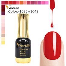 Professional salon Use Venalisa 12ml long lasting color nail gel polish soak off led uv lamp can use color uv gel lacquer(China)