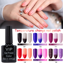 MDSKL Temperature Color Changing Nail Gel Polish Long-lasting Soak-off LED UV Thermo Chameleon Nail Polish For Fashionable Woman(China)