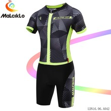Malciklo Bike Clothing Men 2017 Bicycle Jumpsuit Short Summer Stripe Elasticity Coverall Healthy sport cycling set
