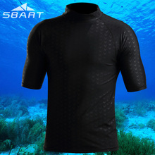 UV Protected Rush Guard Men's Swimming Surfing Shirt Beach Wear short Sleeve Wetsuit swimsuit jacket snorkeling suit warm shirt