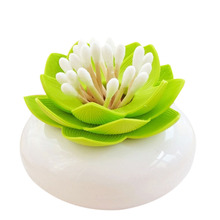 Home Storage Product Lotus Flower Cotton Bud Holder Toothpick Case Cotton Swab Box Vase Decor Aliexpress Top Sell  BS