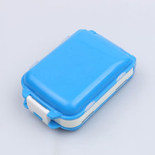 Square Pill Case Daily Drug Medicine Portable Pill Box Makeup Storage Container