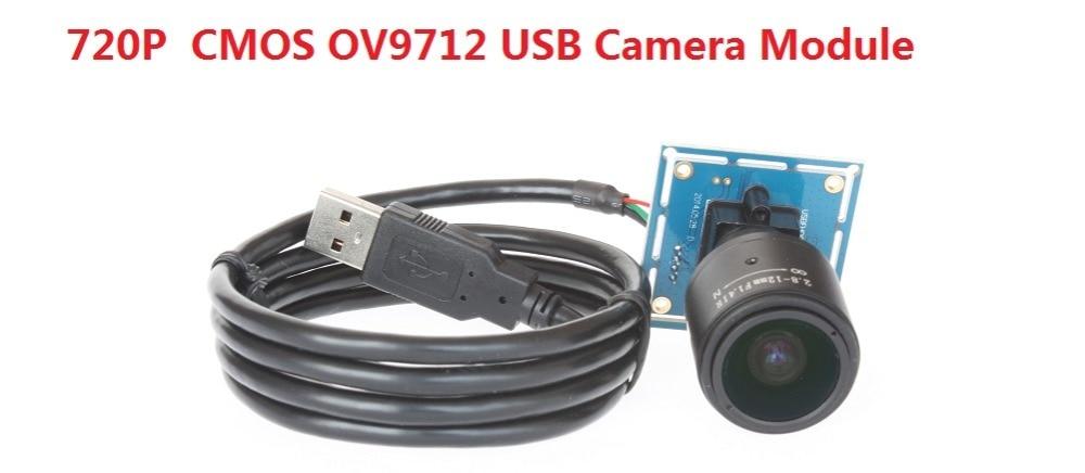 1.0 Megapixel 720P CMOS OV9712 MJPEG/YUY2 Mini HD USB 2.0 2.8-12mm Varifocal lens Camera module for machinary equipment<br>