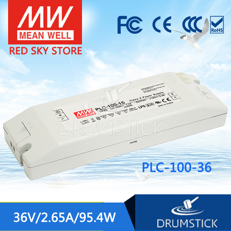 Advantages MEAN WELL PLC-100-36 36V 2.65A meanwell PLC-100 36V 95.4W Single Output Switching Power Supply<br>