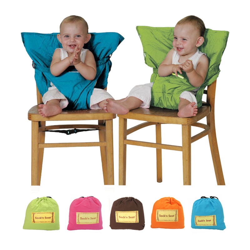 Infant Baby Chair Car Safety Seat Belt Clip Cover, Portable Folding ...