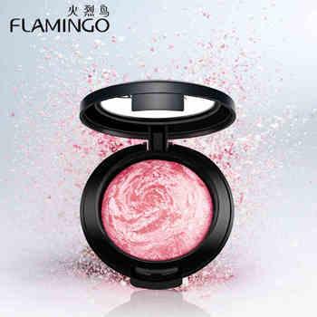 Beauté Visage Maquillage Marque Flamingo Blush avec brosse mirror joue soyeux feutre blush couleurs assorties cuisson blush