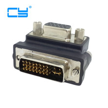 Down Right Angled 90 Degree VGA SVGA Female To DVI 24+5 male DVI to RGB Adapter