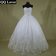 QQ Lover 2017 New Latest Sexy Beaded Wedding Dress Custom Made Plus Size Ball Gown Beautiful Vestido De Noiva