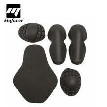 5 Pcs/Set Black Motorcycle Riding Shoulders Elbows Back Chest Knee Protection Pads Racing Safety Hard Armour(China)