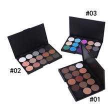 2017 Fashion 15 Color Eyeshadow Pallete Powder Professional Make up Product Cosmetics Smoky/Warm Color(China)