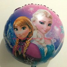 Lucky 30pcs/lot 18 inch Elsa/Anna Princess Foil Balloon Olaf Balloons Party Decoration Mylar Ballon Classic Toys Children Gifts