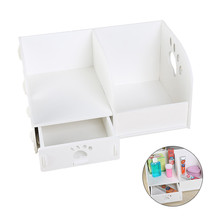 Household Decor Wooden Table Storage Box Jewellery Drawer CosmeticStorage Box Office Stationery Book Magazine Storage Racks(China)