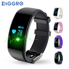Diggro Dfit D21 Smart Bracelet Heart Rate Monitor Wristband IP68 Waterproof Smartband Sport Tracker for Android iOS VS Fitbits