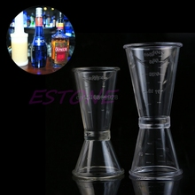 S/L Jigger Single Double Shot Cocktail Measure Cup Wine Short Drink Bar Party