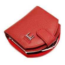 Fashion Luxury Brand Women Cow Leather Hobos Coin Purses Genuine Leather Small Wallets Coins Purses Hobos Design sac femme(China)