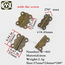 17*24mm 100pc bronze 4 hole kitchen cabinet hinge furniture accessories wooden box hinge All kinds of wooden furniture hardware