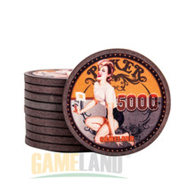 Poker Chips Professional Casino Chip Retro 12g Ceramic Chips Texas Hold'em Poker Wholesale Gambling 43mm x 3.3mm poker set(China)