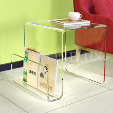 ONELUX Acrylic Lucite small magazine table,Plexiglass Side/sofa/end/coffee Tea Table