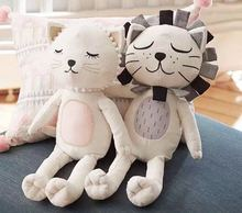 2016 New Baby Kids Stuffed Toys Lion Cat Shape Dolls Kids Room Bed Decorative Children's Best Gift