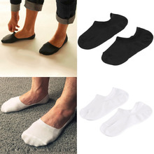 Men sport Invisible Bamboo Fiber Causual Socks Loafer Boat Liner Low Cut Nonslip free shipping(China)