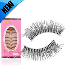 2017 New Makeup 10 pairs Handmade False Eyelashes Natural Long Fake Eyelashes Extension High Qualtiy Make Up Wimpers Kit Tools(China)