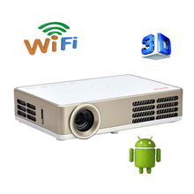 Smart Bluetooth Android 4.4 Wifi HDMI USB TF Blue Ray 4K3D Pico Portable HD 1080P LCD Video LED Mini DLP Projector For Iphone 4K