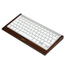 SAMDI - Bamboo Wooden Stand Wood Keyboard Holder For iMac Computer 1st Apple Bluetooth Wireless Keyboard Dark Brown(China)