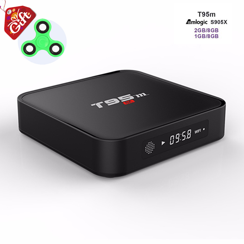 T95M Iptv Box 4K HD Android 6.0 TV Set Top Box Amlogic S905X 1GB Ram 8GB ROM Built-in 2.4GHZ WIFI H.265 Media Player PK TVOnline
