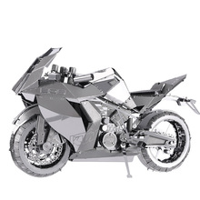 3D Metal Nano Puzzle Motorcycle I Model Kits P046-S DIY Toy 3D Laser Cut Assemble Jigsaw Toy