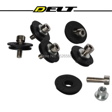 Folding bike bicycle cycling rotor bike front derailleur shift cable guide wire pulley wheel 2 set