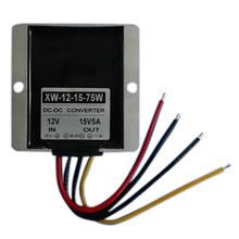 Best Price DC Boost Regulator Module 12V To 15V 5A 75W Step Up Power Supply Converter Waterproof For Car Motors
