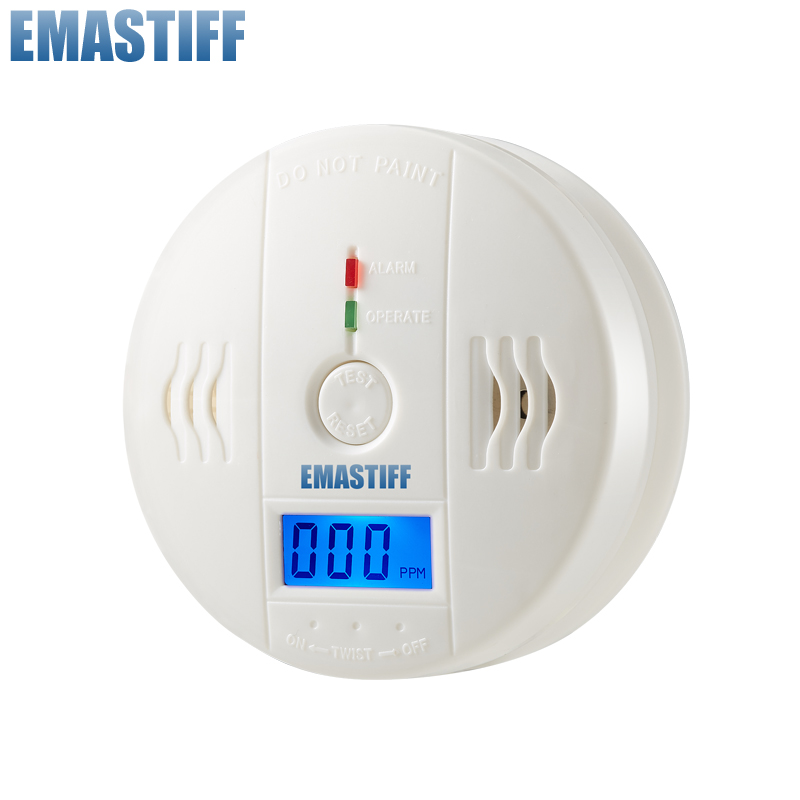 free shipping!LCD CO Sensor Work alone Built-in 85dB siren sound Independent Carbon Monoxide Poisoning Warning Alarm Detector(China (Mainland))