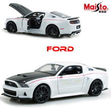 Free shipping  Meritor 1:24 Original Alloy Car Models Ford mustang GT children toy car metals model for collection Original Box
