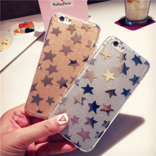 Luxury Glitter The stars Plating Star Hard PC+Soft TPU Case Cover Ultra Thin Slim For Iphone 6 6s plus 7 7 plus Shell case