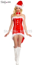 FREE SHIPPING C2012=11 Adult Sexy Miss Santa Christmas Ladies Fancy Dress Costume Party Outfit