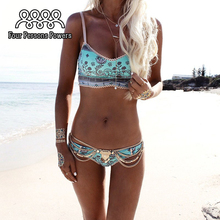 2017 Hot Design Swimwear Women Bikinis Sexy Lace Bottom Bathing Suit Push Up Brazilian Bikini Printing Swimsuits NK10