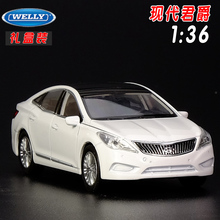 Gift for boy 1:36 11cm cool Welly HYUNDAI GRANDEUR car delicacy alloy model pull back collection children birthday toy