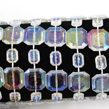 Free shipping 30m cube Austria Crystal Beads charm Glass Beads for DIY Jewelry Making Wedding Party Decoration Products Supply(China)