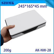 1 piece, 245*165*45mm hot sales network enclosure electronics plastic project box plastic housing equipment router control box(China)