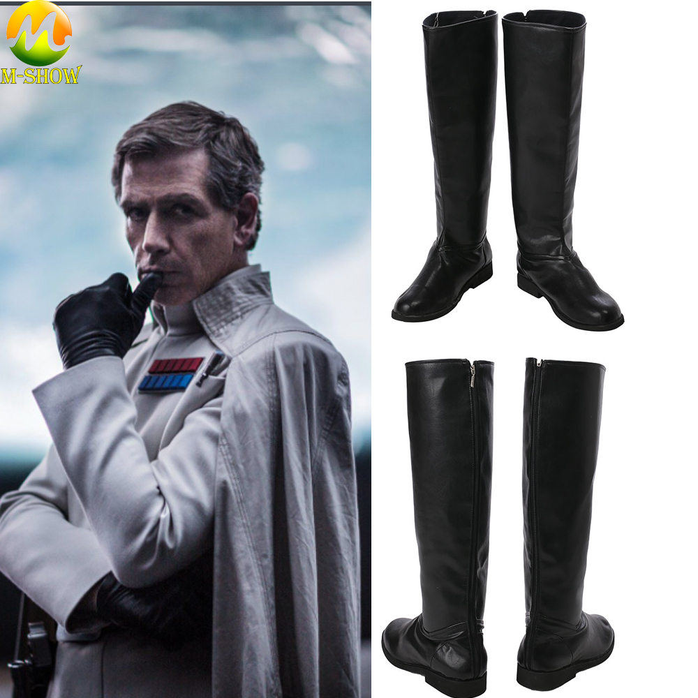 Orson Krennic Cosplay Costume Boots Rogue One A Star Wars Story PU Costume Accessories Boots For Halloween Party