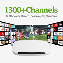 Android Iptv Set Top Box With 1300Free Iptv Account Europe Arabic Italy French Canal Plus IPTV Package Smart TV Box Media Player